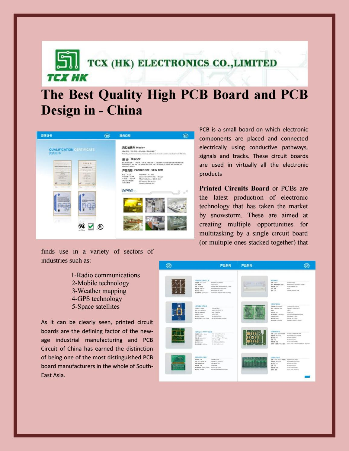 The Best Quality High Pcb Board And Design In China By Printed Wiring Definition Pcbfpcboard Issuu