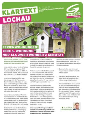 Liebe Lochauerinnen und Lochauer! - Gemeinde Lochau