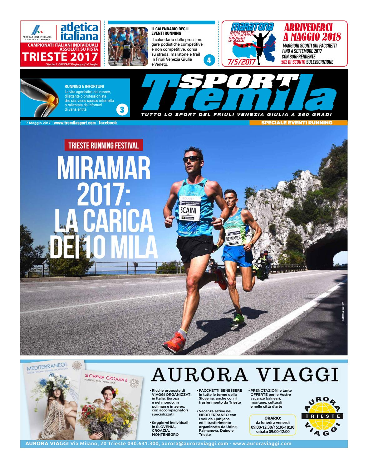 Calendario Delle Prossime Gare Di Podismo.Eventi Running Tabloid Tremilasport 7maggio2017 By