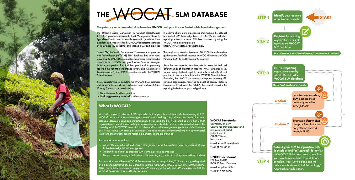 The WOCAT SLM database by Zoï Environment Network - issuu