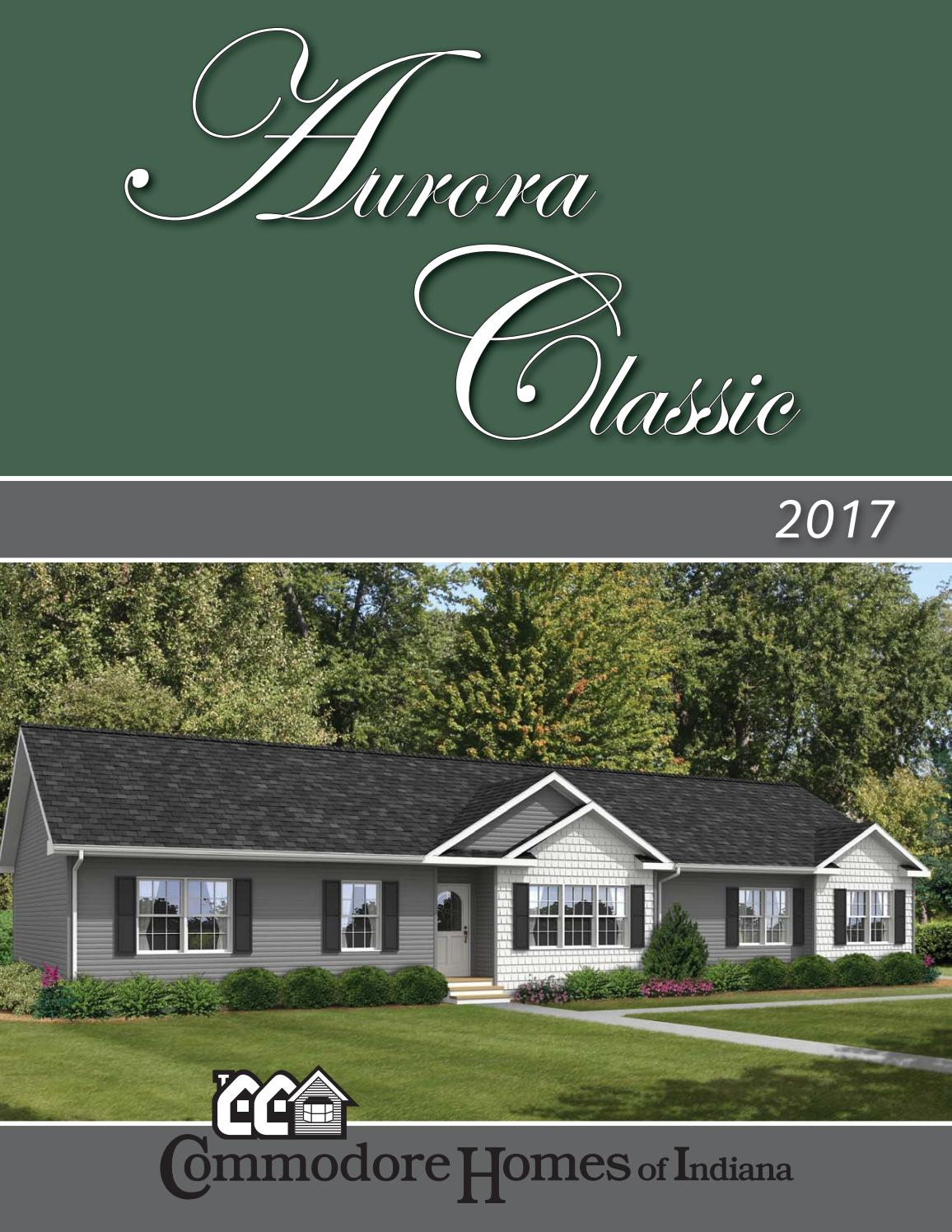 Commodore Homes Of Indiana Aurora Classic Ranch 2017 By