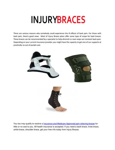 3489d7a6bd Get Insurance and Medicare Approved Braces by Injury Braces - issuu