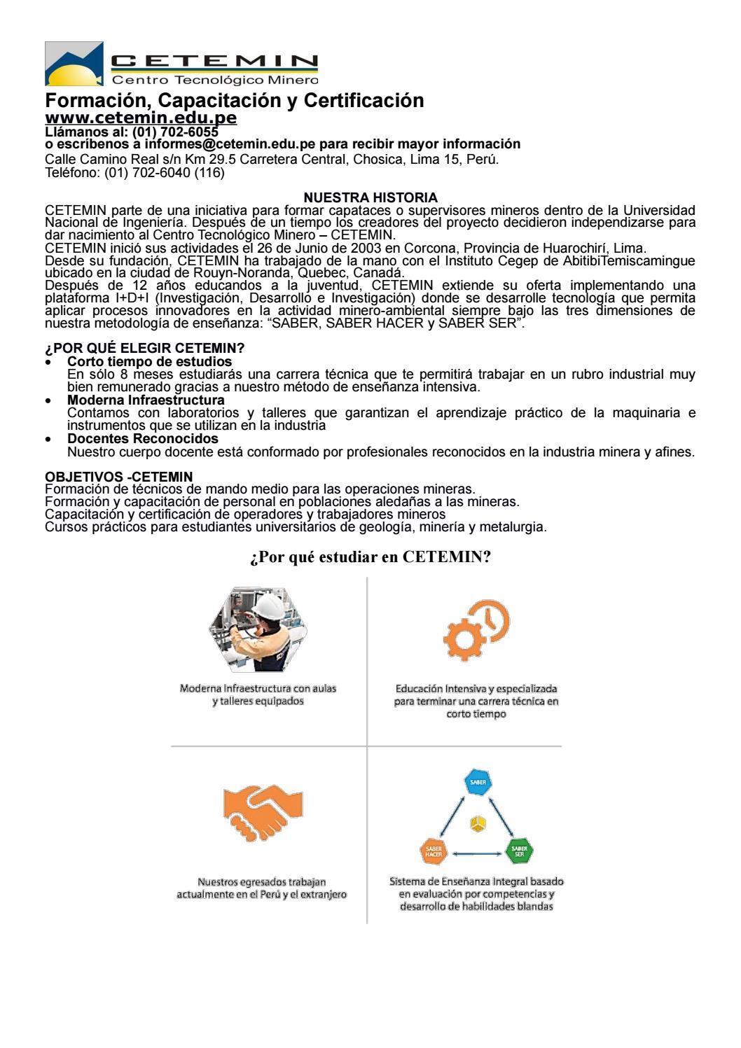 Cetemin medio ambiente y seguridad by Rosa Paniura - issuu