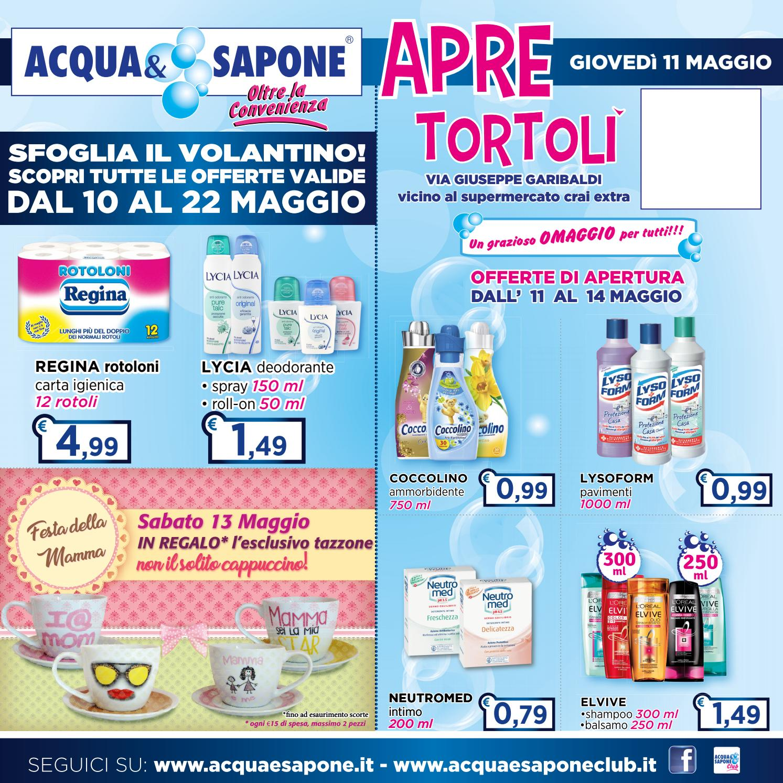 Volantino acqua sapone apertura tortol by acqua for Asclub volantino