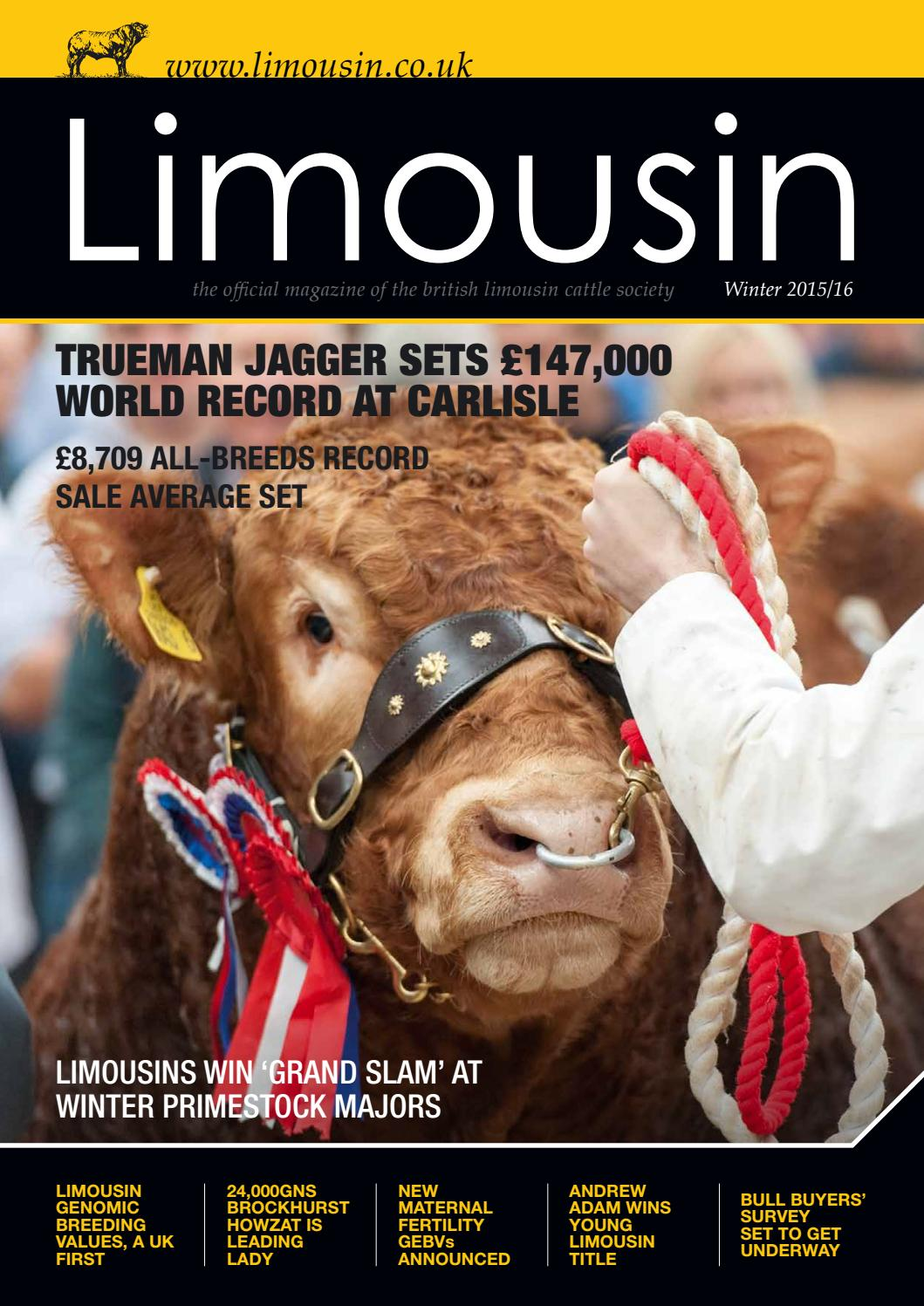 Blcs winter 2015 magazine by British Limousin Cattle Society
