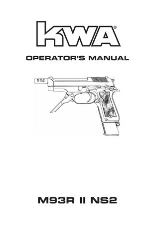 User manual m93rii by KWA USA - issuu