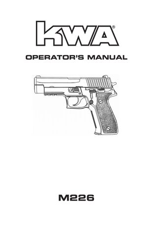 User manual m226 by KWA USA - issuu