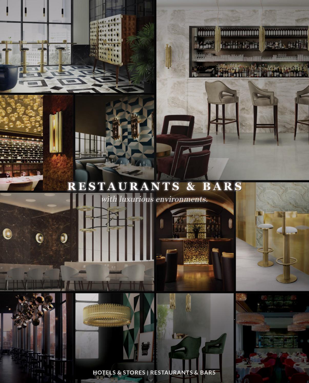 Restaurants bars magazine interior design by covet