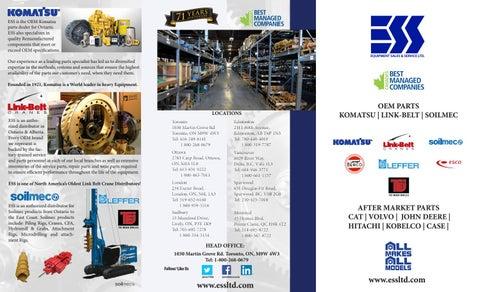 Aftermarket Parts Brochure - Equipment Sales & Service