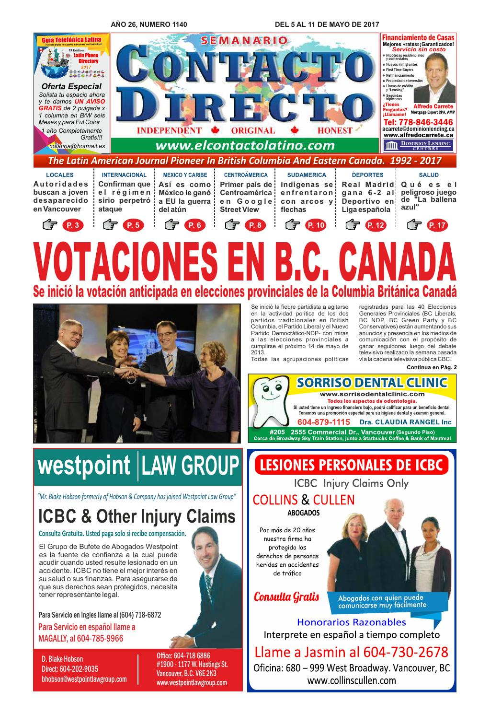 SEMANARIO CONTACTO DIRECTO EDICIÓN 05/05/2017 by PERIÓDICO SEMANARIO ...