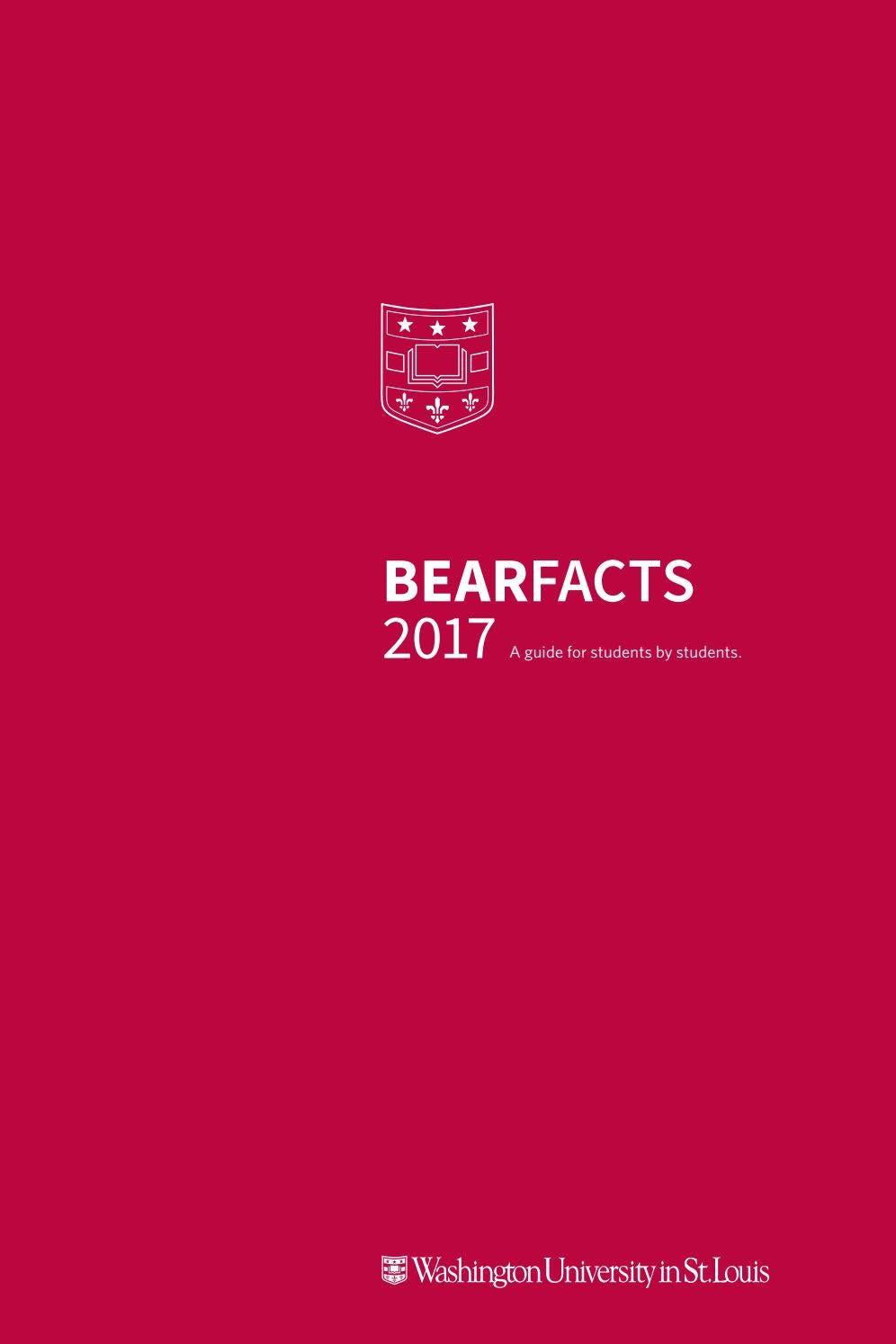 Bear Facts 2017 by WU First Year Center - issuu 69754f141550