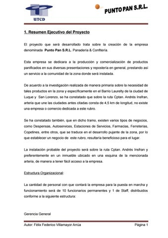 Tesis punto pan, panaderia & confiteria 2 by Sergio Duarte - issuu