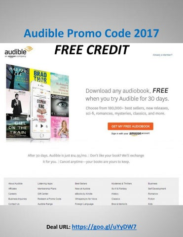 Audibles promo code