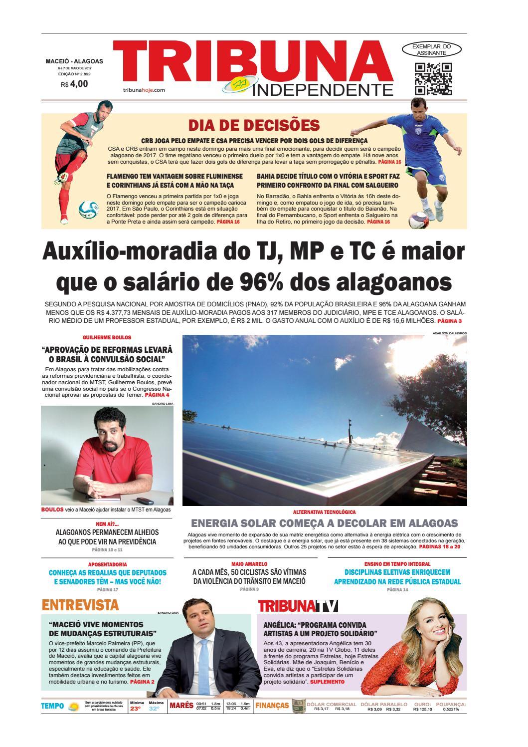 b82d0b5dc1f Edição número 2892 - 6 e 7 de maio de 2017 by Tribuna Hoje - issuu