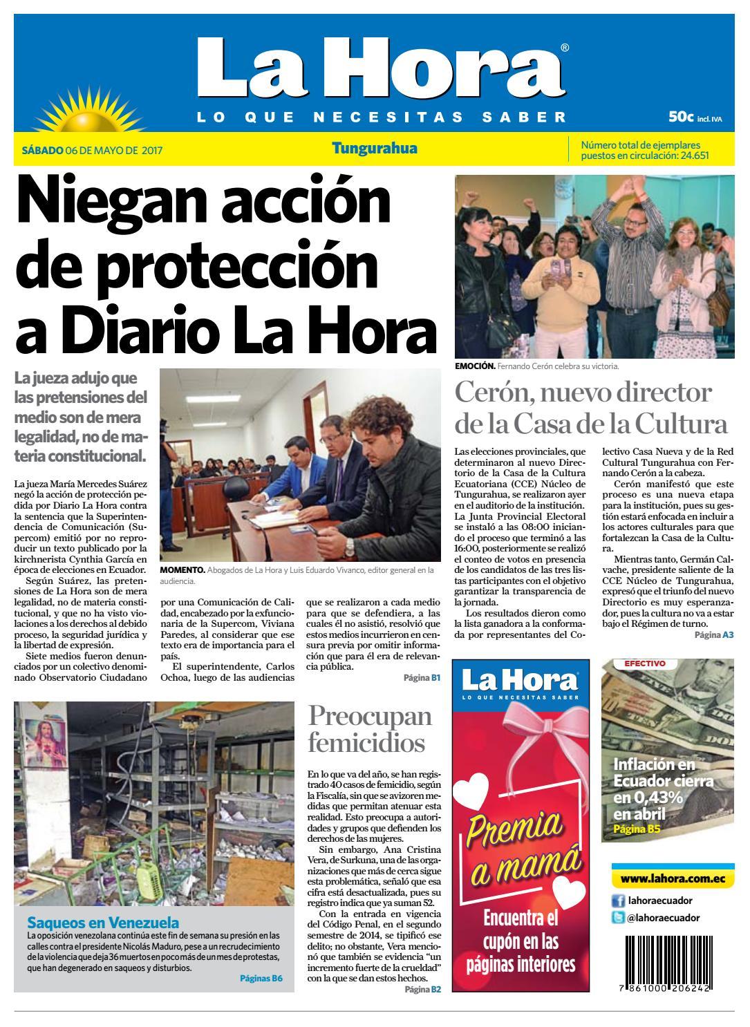 Tungurahua 02 de septiembre de 2017 by Diario La Hora Ecuador - issuu