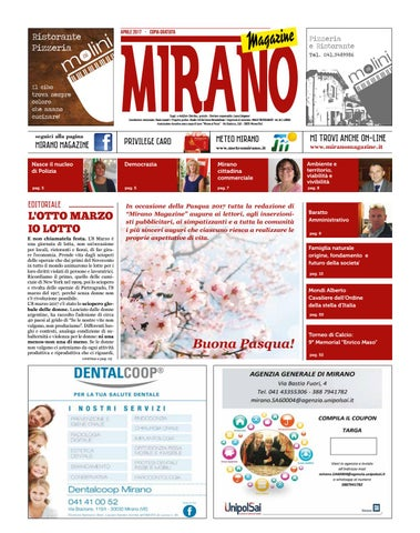 Mirano magazine aprile 2017 by Tobias Capo - issuu ed2b8c81596