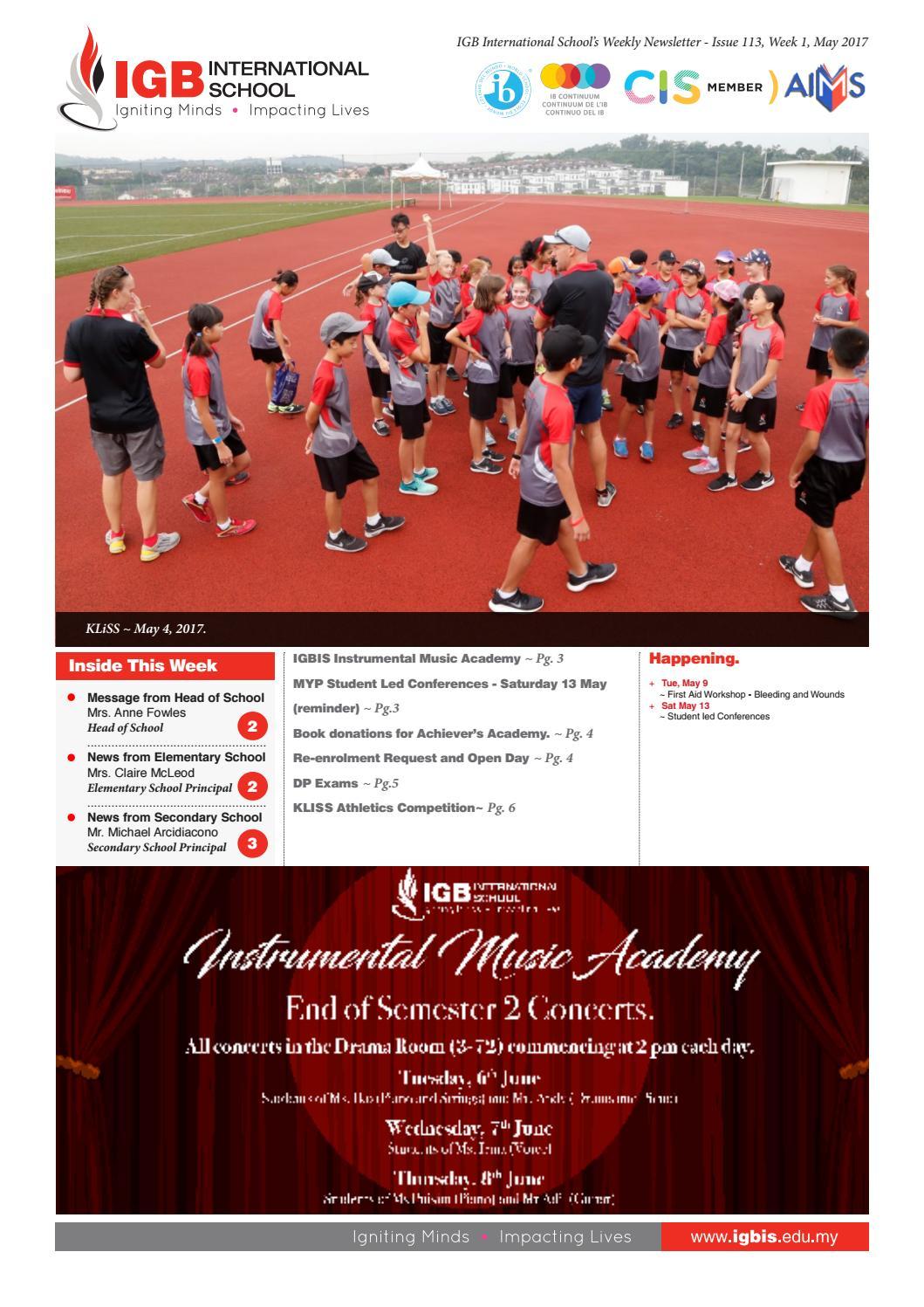 ca5bd20241a Issue 113 Newsletter May 2017 by IGB International School - issuu