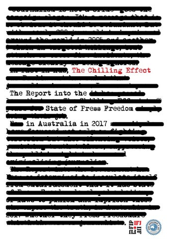 The Chilling Effect: the report into the state of press