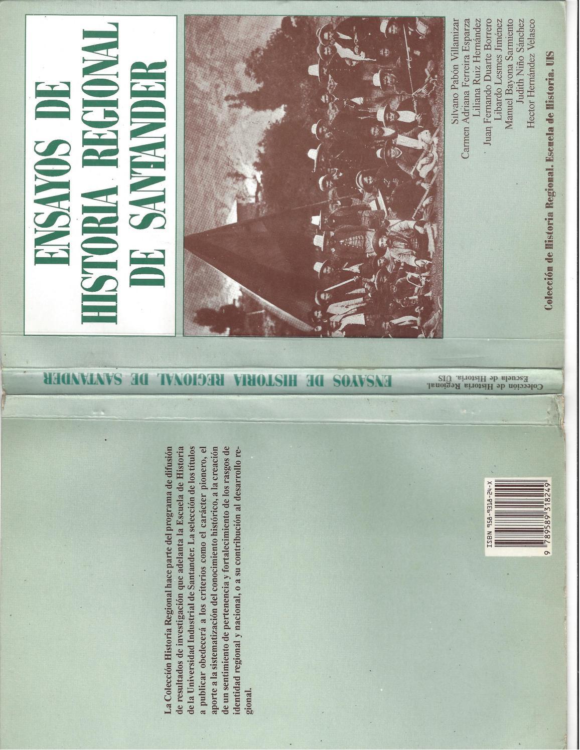 Ensayos De Historia Regional De Santander By Silvano Pab N  # Muebles Borrero Alosno