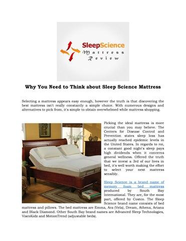 Sleep Science Mattress >> Sleep Science Mattress By Josephwaltnz Issuu