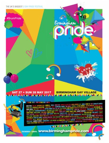6595e1cd Birmingham Pride Guide - Front Cover FINAL VERSION.qxp_Layout 1 24/04/2017  17:48 Page 1