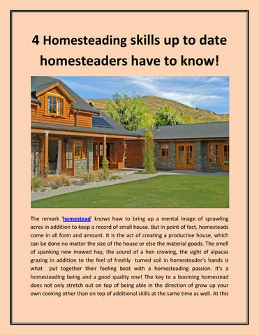 Homesteading dating site