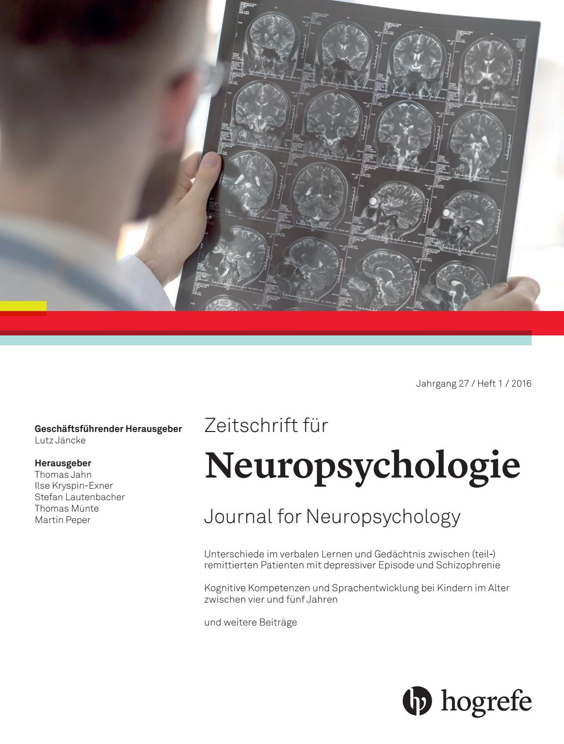Znp 2016 27 issue 1 by Hogrefe - issuu