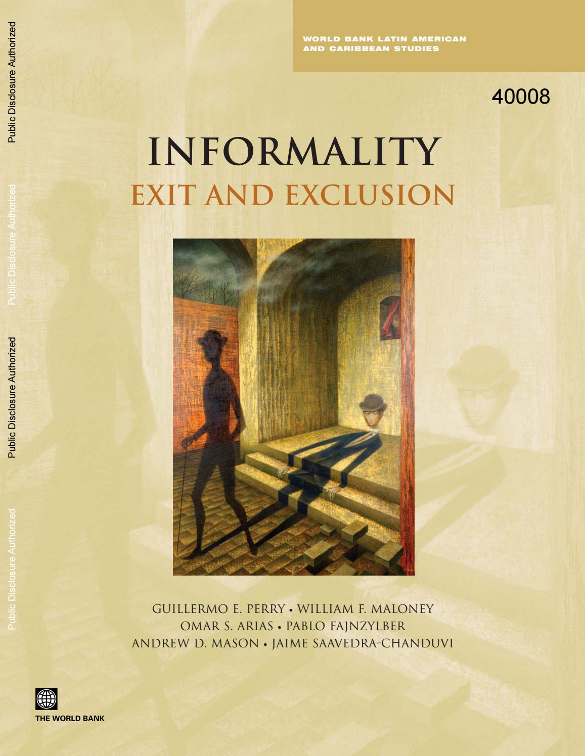 Informality: Exit and Exclusion by matilez - issuu