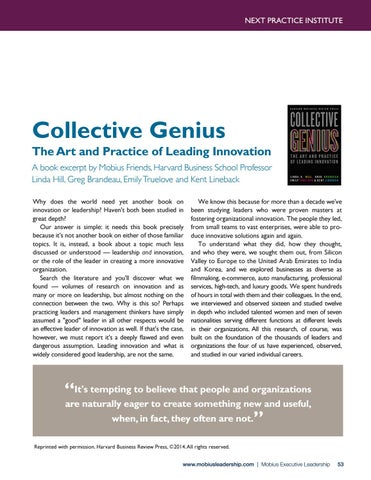 Page 53 of Collective Genius: The Art and Practice of Leading Innovation