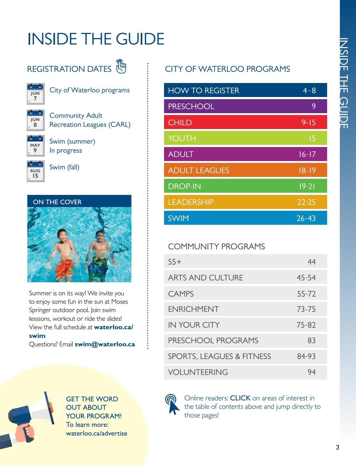 Summer 2017 Program Activities Guide By City Of Waterloo Issuu