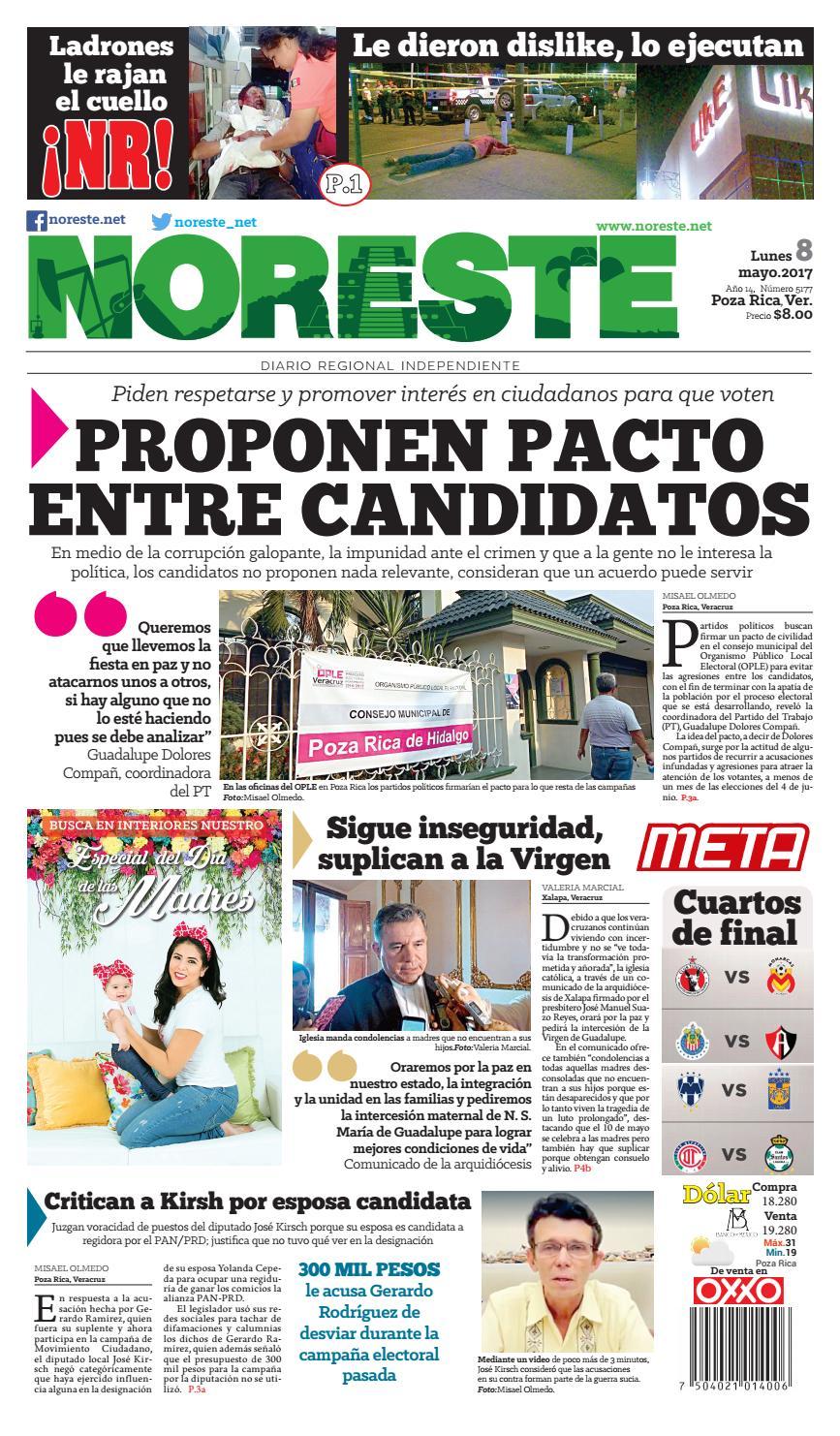 Versi N Impresa 8 De Mayo 2017 By Noreste Diario Regional  # Muebles Metalicos Juquila