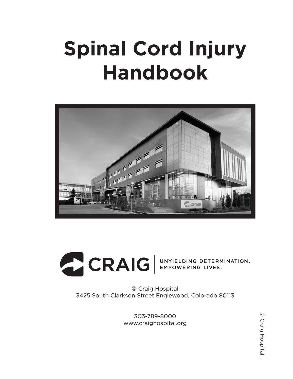 Spinal Cord Injury Handbook By Craig Hospital Issuu Electrical Building Wiring 8211 Safety Methods And Materials