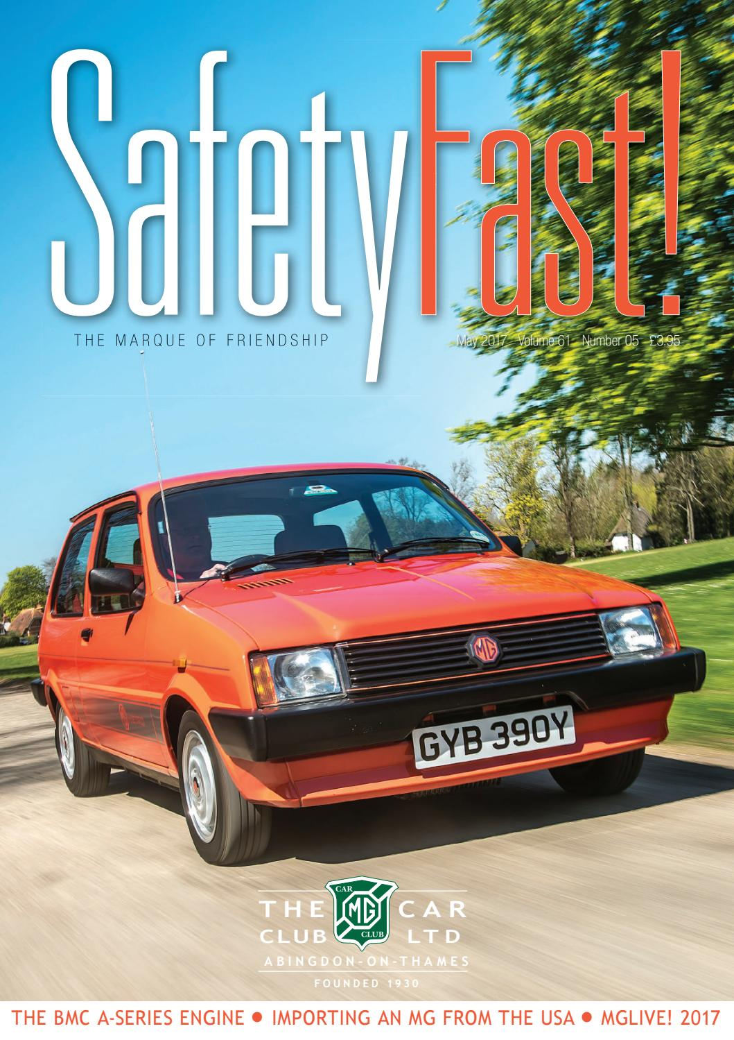 Safety Fast May 2017 By Mg Car Club Issuu 12 Volt Relay Wiring Diagram Http Daytona675orguk Turnflashhtm