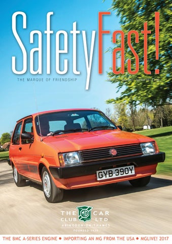 Safety Fast May 2017 By MG Car Club