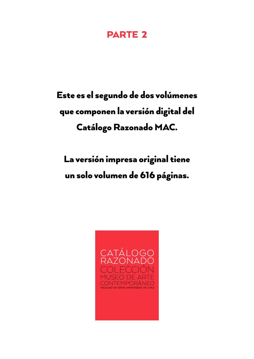 2 De 2 Catálogo Razonado Museo De Arte Contemporáneo By