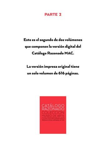 2 de 2. Catálogo Razonado - Museo de Arte Contemporáneo by Museo de ...