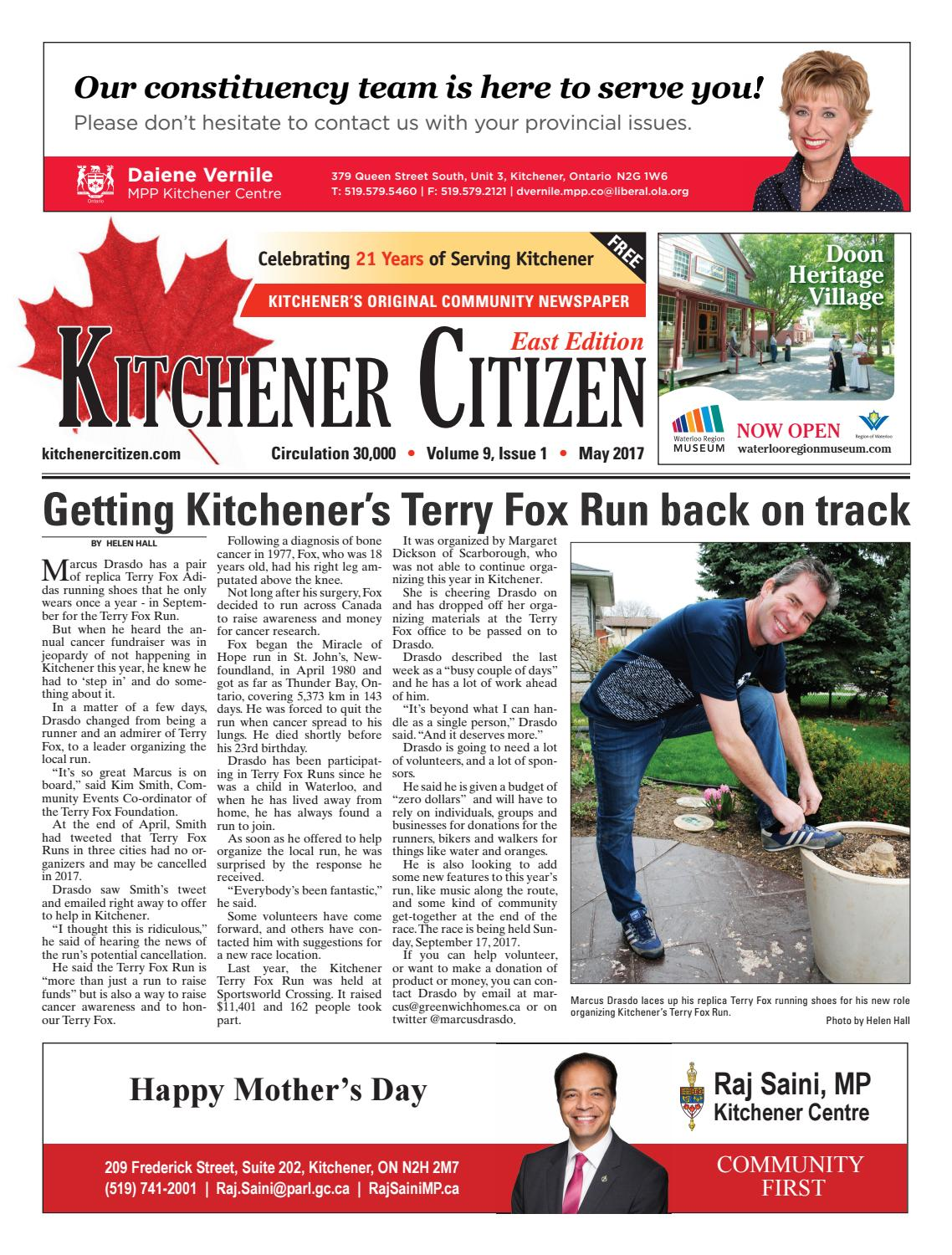 Kitchener Citizen - West Edition - May 2017 by Kitchener Citizen - issuu