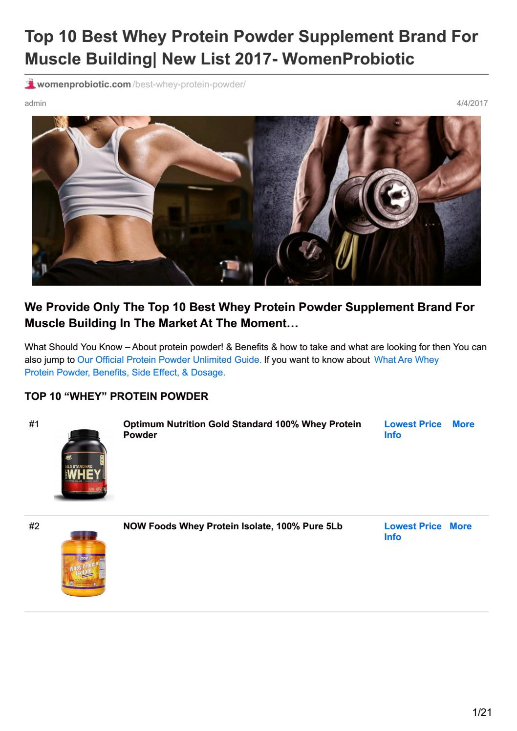 Top Muscle Building Supplements Brands from Peopleforcarlandrews