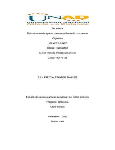 118019915 pre informe de quimica organica by Leynney Hernandez - issuu