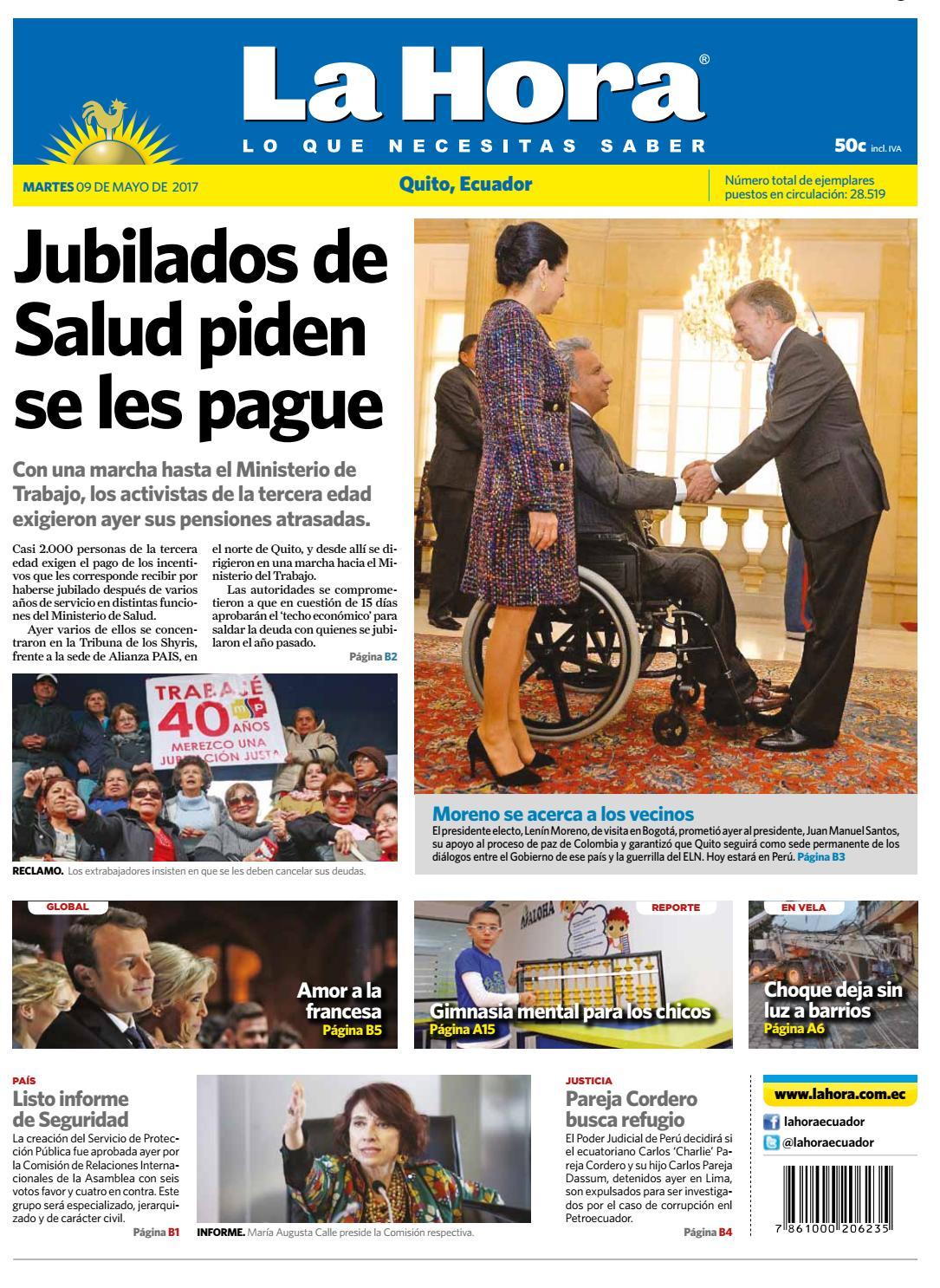 2fc57bfefa115 Quito 09 de mayo de 2017 by Diario La Hora Ecuador - issuu