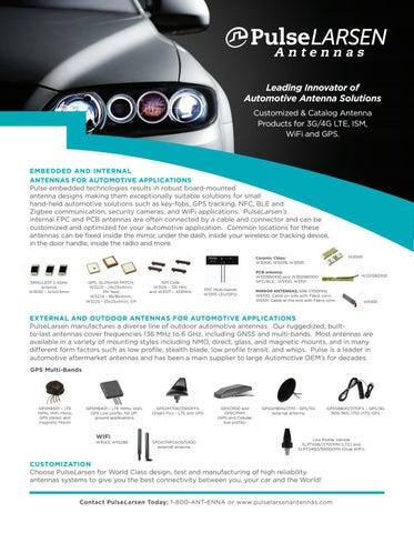PulseLarsen Antenna Automotive Solutions by Pulse Electronics - issuu