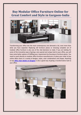 Modular Office Furniture Online For Great Comfort And Style In Gurgaon India