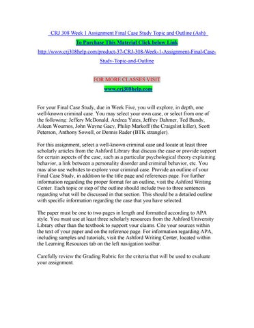 Case Study Outline Apa - About This Website