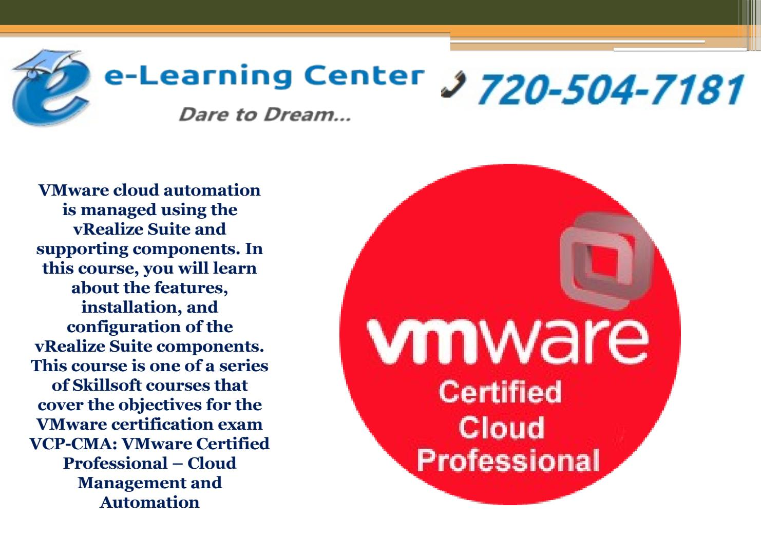 Vmware Certified Cloud Professional By E Learning Center Issuu