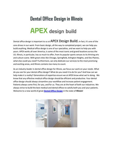 great tips for dental office design in illinois by apex design build