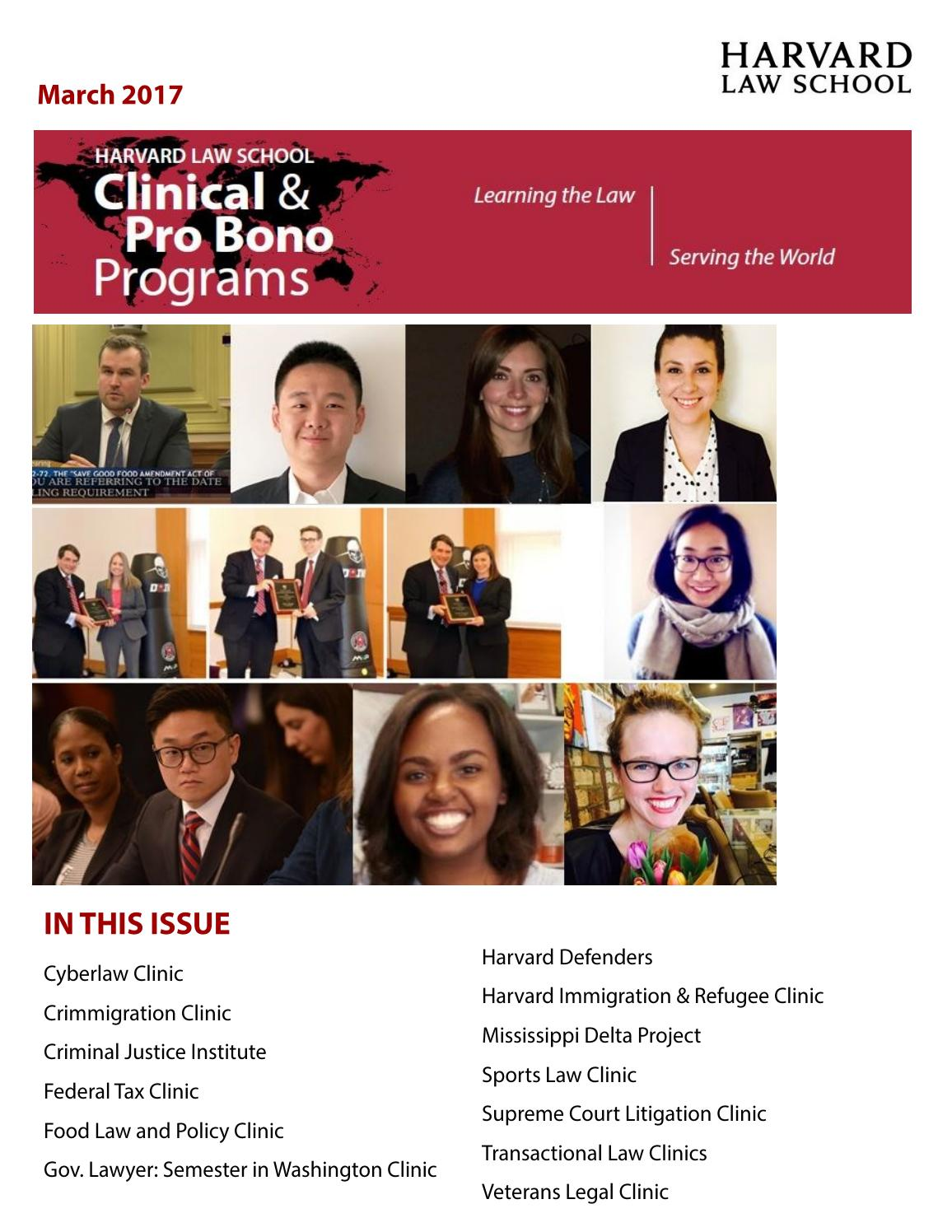foto de March Newsletter by Clinical and Pro Bono Programs Issuu