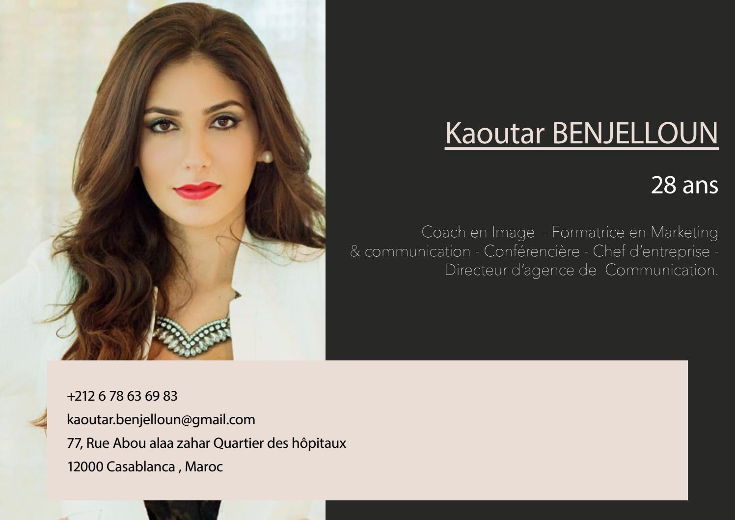 cv kaoutar benjelloun by signature conseil