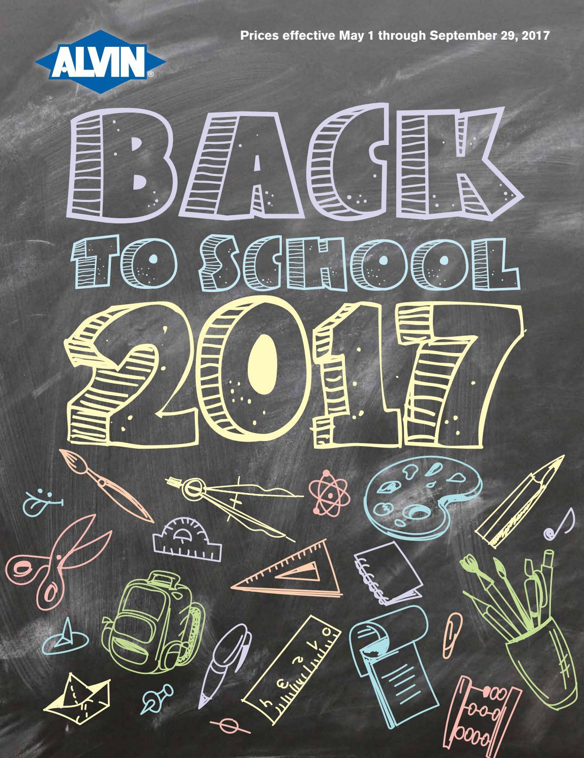 Back To School 2017 Catalog By Alvinandcompany Issuu