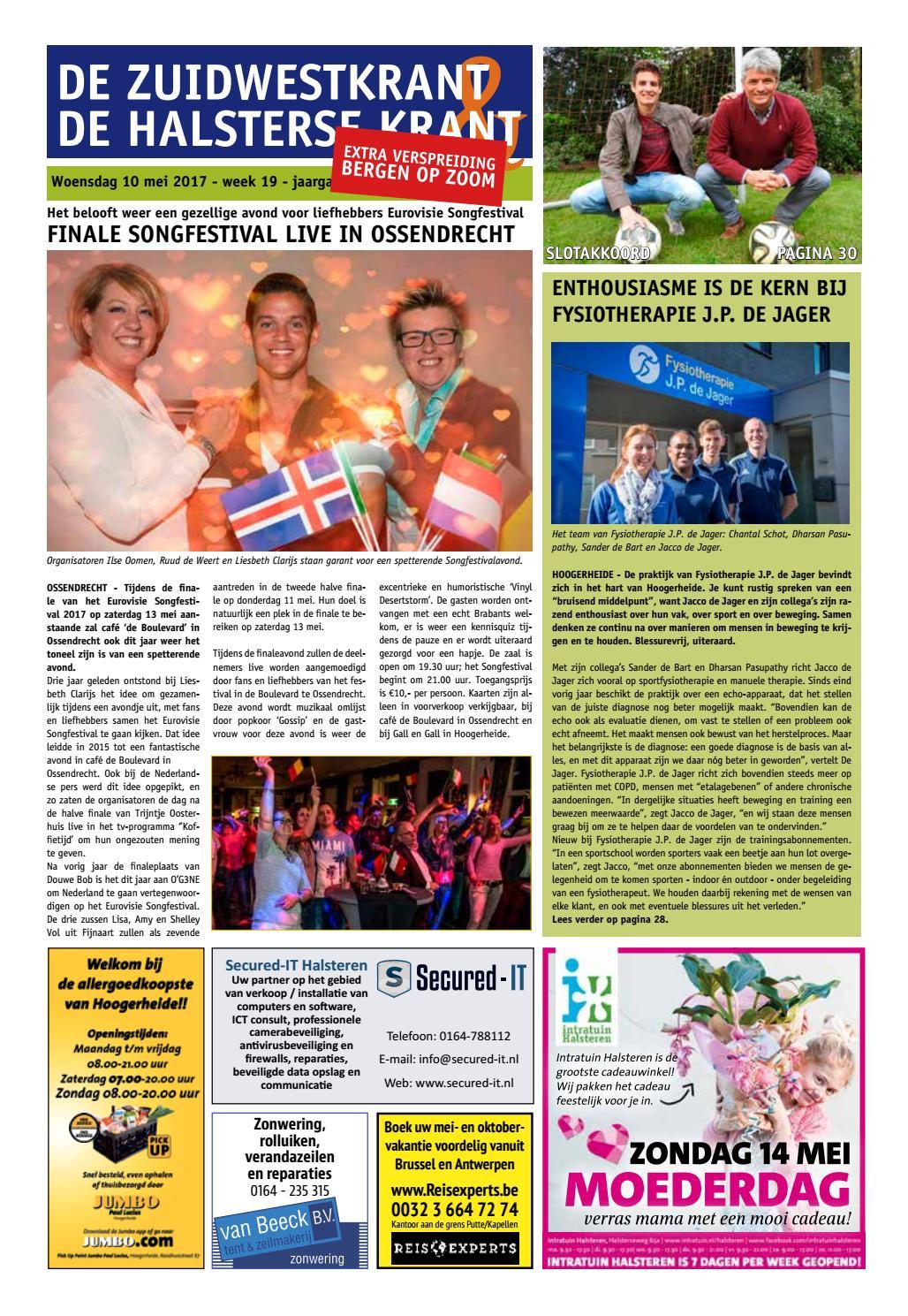 dc1984144d4 De Zuidwestkrant & De Halsterse Krant 19 2017 by HKZWK - issuu