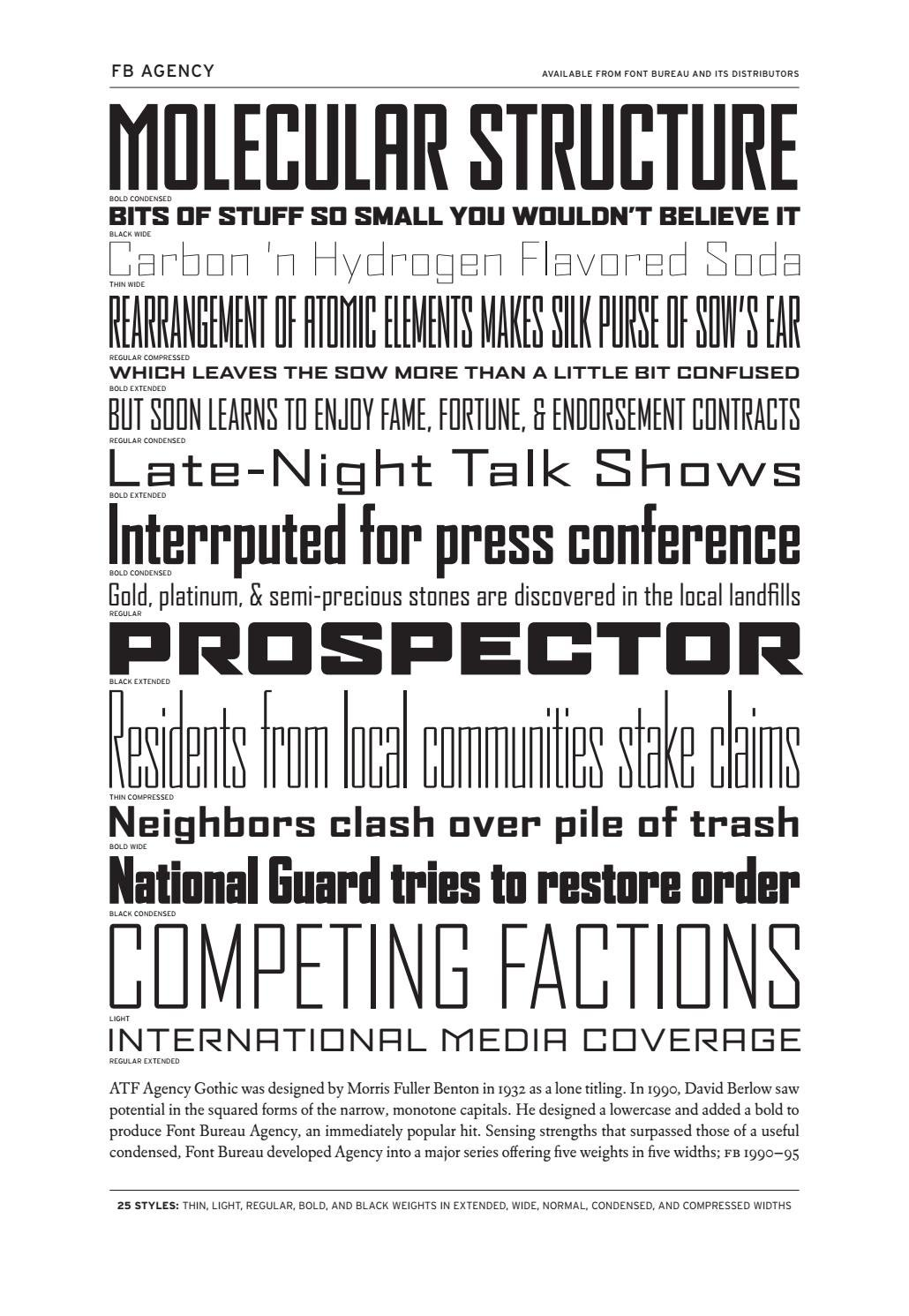 catalogo font bureau inc by Rafa Clariana - issuu